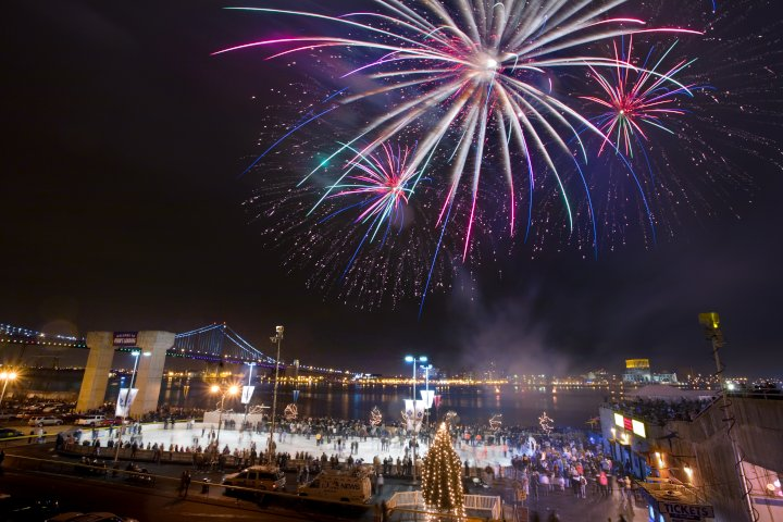 Philadelphia New Year's Eve plans fireworks throughout the city.
