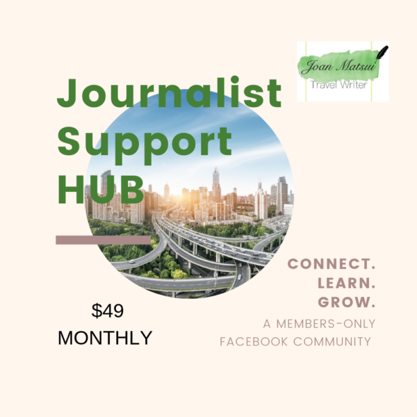 Journalist Support HUB is a members-only Facebook group devoted to learning journalism and travel writing