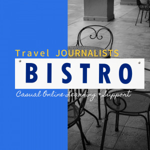 Travel Journalists Bistro is a learning and support group that teaches travel writers the skills they need to become successful travel journalists