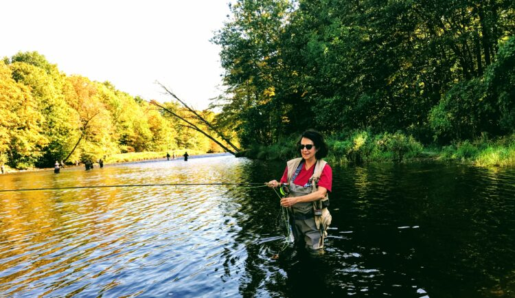 """Salmon Fly-Fishing Tales"""" Learning to Fly Fish for Salmon on the Salmon River"""