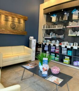 Hand & Stone Lobby Offers Beauty Solutions that support health, wellness, and beauty.