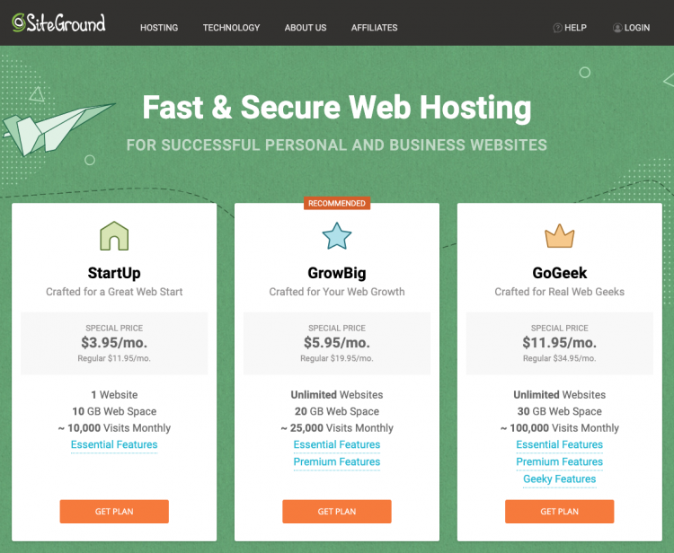 SiteGround Web-Hosting Review