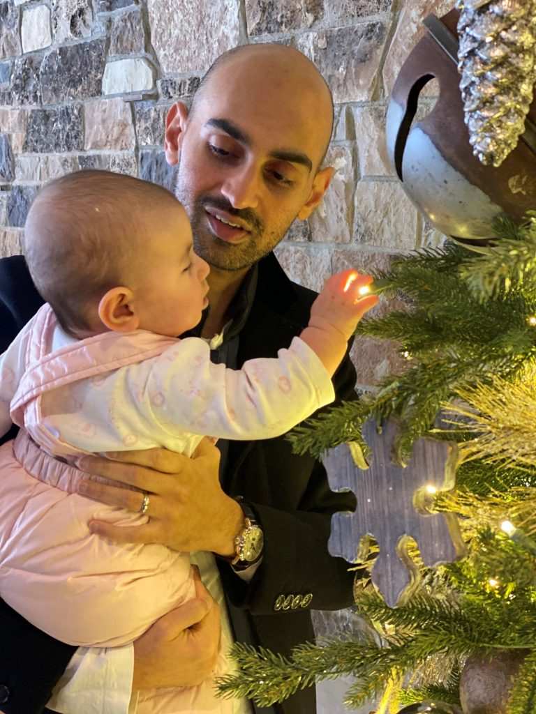 Neil Patel and his daughter spend time together during the holidays