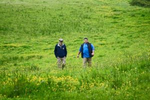 Kostiak and Lee Paul and Lee discuss the next trip while taking in the beauty. Phot credit - Ann Shaffer