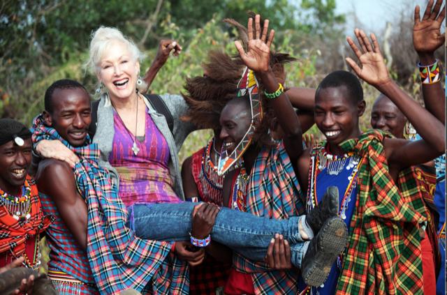 Wendy Kaplan Filmmaker on location in Africa