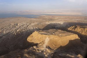 """Masada (""""fortress"""" in Hebrew) is a mountain complex in Israel in the Judean desert that overlooks the Dead Sea."""