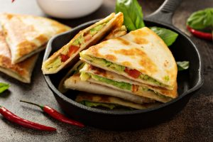 Quesadilla are a staple in Mexican cooking.