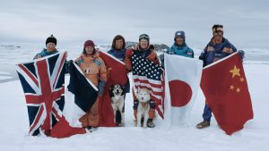 The team of explorers and scientists who crossed Antarctica