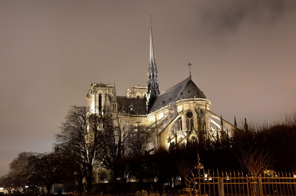 Inside Notre-Dame Cathedral there are priceless art and artifacts.