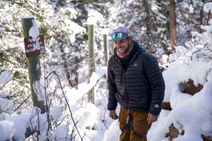 Spencer Seabrooke highliner world-record holder laughs while enjoying the outdoors.
