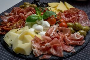 Antipasto is the first course of a traditional Italian meal